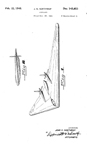Northrop N1M Flying Wing Design Patent D-143,853