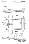 Lockheed P-38 Lightning Fighter Design variant Patent No. 2,460,804