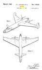 Lockheed P-38 Lightning Fighter Design variant Design Patent D-119,334