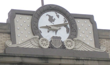 Pediment of the Air Mail Station Building, St. Paul Street, Baltimore Maryland