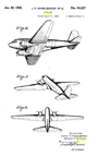 Exterior of the Douglas DC-2, Design Patent D-94,427