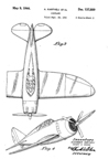 Republic P-43 Lancer Fighter Design Patent D-137,889