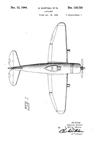 The Republic P-47 Thunderbolt Design Patent D-139,729