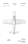 Republic F-84 Thunderjet Design Patent D-153,291