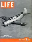 Curtiss SB2C Helldiver on the cover of the March 31, 1941 issue of LIFE Magazine