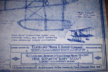 Cleveland Model Plans for the Sopwith Baby
