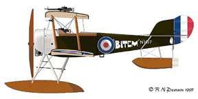 Drawing of the Sopwith Baby