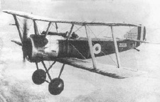 Sopwith Pup World War I fighter in flight