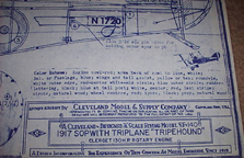 Cleveland Model Plans for the Sopwith Triplane