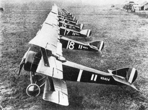 A squadron of Sopwith Triplanes