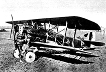 Eddie Rickenbacker with his SPAD S.VIII  Fighter