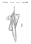 Lockheed F-22 Raptor Design Patent D-332,080