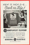 Vintage Television Advertisement GE 17 Inch TV