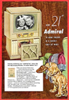 Vintage Television Advertisement Admiral 21 Inch Console