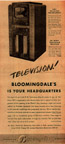 Vintage Television Advertisement  DuMont TVs at Bloomingdales NY Times 1939