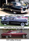 1949 cadillac photos - four door, two door fastback, El Dorado