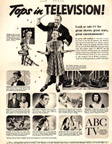 Vintage Television Advertisement for the ABC network LOOK Magazine March 28, 1950