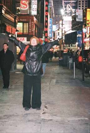 Sue in Times Square