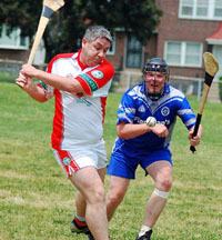 The Caman in Use in a game of Hurling