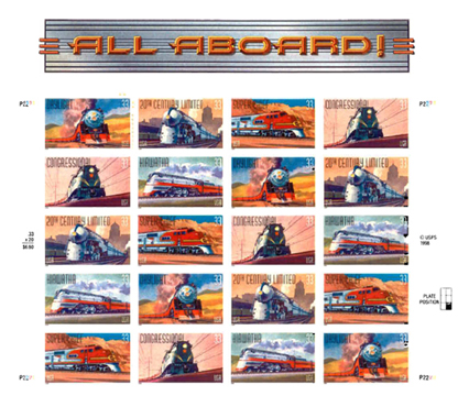 All Aboard Stamps (plate front)