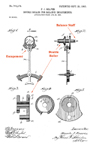 Watch Double Roller Patent No. 740,179