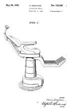 Henry Dreyfuss Dental Chair Design Patent D-132,542