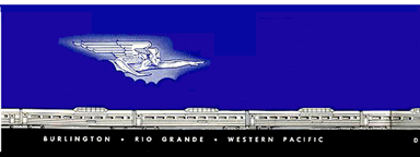 Brochure for the California Zephyr