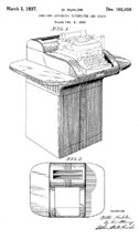 Otto Kuhler Typewriter Stand Design Patent D-103,549