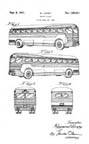 Raymond Loewy Greyhound Bus Design patent D129411