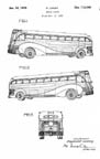 Raymond Loewy Greyhound Bus Design patent D113009