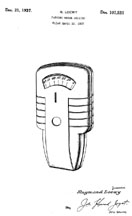 Raymond Loewy Parking Meter Design Patent D-107,531