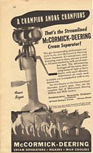 Ad for the McCormick-Deering Cream Separator