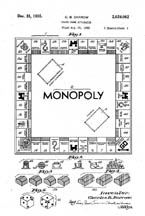Monopoly Board Game Design patent 2,026,080