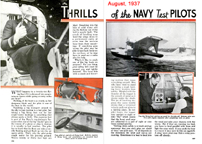 Thrills of the Navy Test Pilots Popular Mechanics August 1937