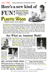 Plastic Wood ad from November 1932 issue of Popular Mechanics