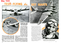 Test Flying the Sky Giants Popular Mechanics May 19339