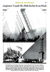end of the Century of Progress as the Skyride is demolished from the August 1935  issue of Popular Mechanics