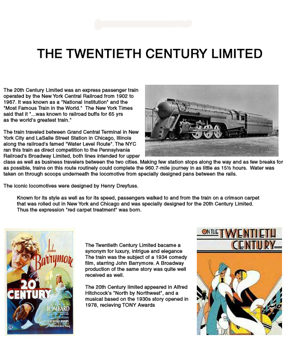 Brief History of 20th Century Limited Train
