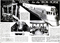 Article Wings of the Iron Horse Popular mechanics August 1934