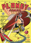 Planet Comics Science Fiction magazine cover - Cyclops Men of Mars