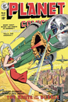 Planet Comics Science Fiction magazine cover - The Brute in the Bubble