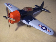 Hubley Toy Airplane No. 495 Navy Fighter Bomber