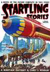 Startling Stories Science Fiction magazine cover - Fortress of Utopia