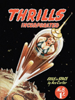 Thrills Incorporated Science Fiction magazine cover - Exile In Space