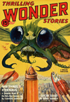 Thrilling Wonder Stories Science Fiction magazine cover - The Three Eternals