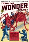Thrilling Wonder Stories Science Fiction magazine cover - Hypercosmos