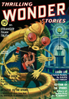 Thrilling Wonder Stories Science Fiction magazine cover - Liquid Life
