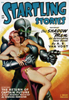 Startling Stories Science Fiction magazine cover - The Shadow men