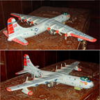 Yonezawa model of the B-36 airplane