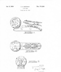 Patent No D-171,243  Rocket bank